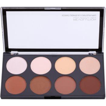 Makeup Revolution Iconic Lights and Countour Pro paleta pentru contur facial imagine produs