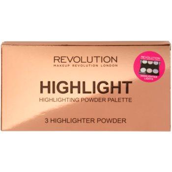 Makeup Revolution Highlight paleta posvetlitvenih pudrov 2