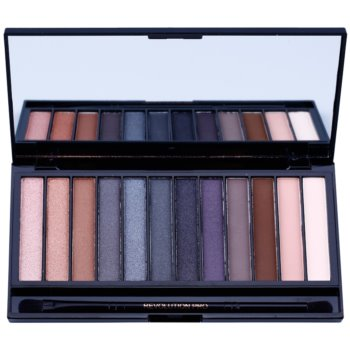 Makeup Revolution Iconic Smokey paleta farduri de ochi cu oglinda si aplicator