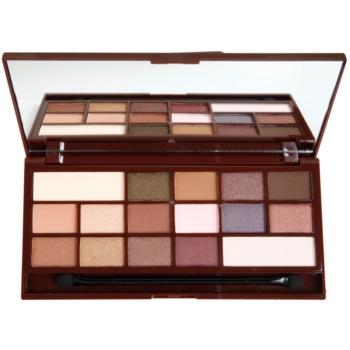Makeup Revolution I ♥ Makeup I Heart Chocolate paleta farduri de ochi cu oglinda si aplicator