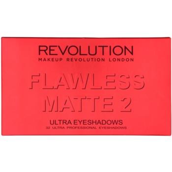 Makeup Revolution Flawless Matte 2 paleta senčil za oči z ogledalom 2