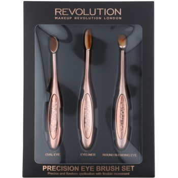 Makeup Revolution Pro Precision Brush sada štětců na oči 3 ks