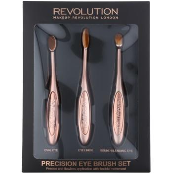 Makeup Revolution Pro Precision Brush set perii machiaj pentru ochi