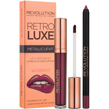 Makeup Revolution Retro Luxe set ruj metalic