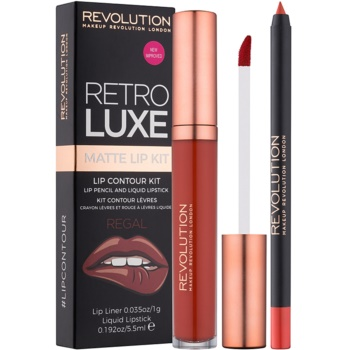 Makeup Revolution Retro Luxe set de buze mat