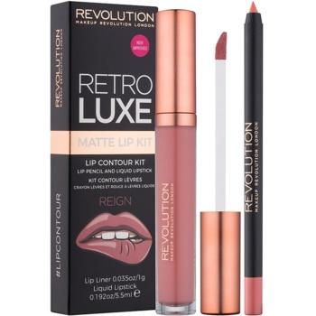Makeup Revolution Retro Luxe set de buze mat