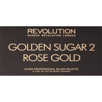 Makeup Revolution Golden Sugar 2 Rose Gold paleta tvářenek se zrcátkem 2