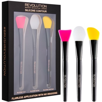 Image of Makeup Revolution Silicone Contour Silicone Brush Set for Contouring 3 pc