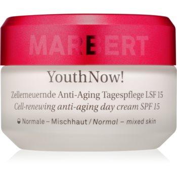 Marbert Anti-Aging Care YouthNow! Cremă ușoară anti-rid pentru piele pentru reînnoirea pielii SPF 15