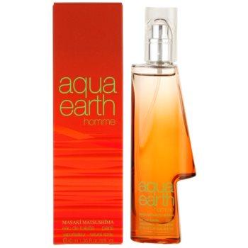 Masaki Matsushima Aqua Earth Homme Eau de Toilette pentru barbati 40 ml