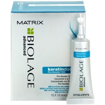 Matrix Biolage Advanced Keratindose pro-keratinová kúra pro poškozené vlasy 10x10 ml