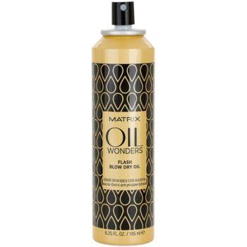 Matrix Oil Wonders спрей-олио за по-бързо оформяне на прическата със сешоар 1