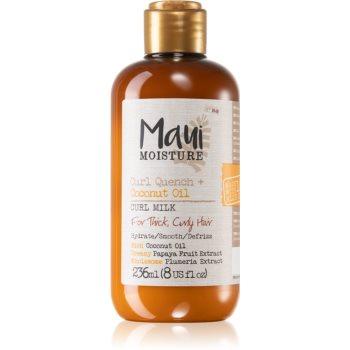 Maui Moisture Curl Quench + Coconut Oil lapte hidratant pentru par ondulat si cret imagine produs
