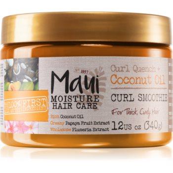 Maui Moisture Curl Quench + Coconut Oil masca pentru par ondulat si cret imagine