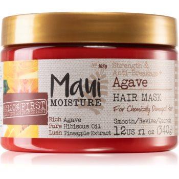 Maui Moisture Strength & Anti-Breakage + Agave mască fortifiantă pentru par degradat sau tratat chimic