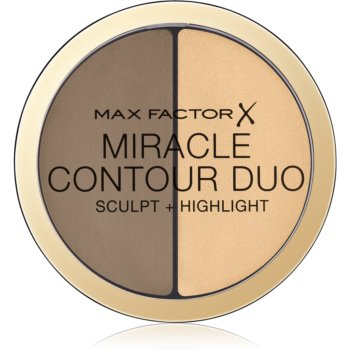 Max Factor Miracle Contour Duo auto-bronzant cremos ?i iluminator imagine produs