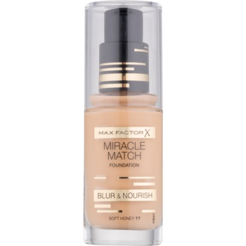 Max Factor Miracle Match make up lichid  cu efect de hidratare culoare 77 Soft Honey 30 ml