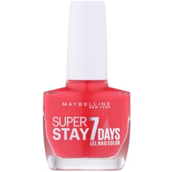 Image of Maybelline Forever Strong Super Stay 7 Days Nail Polish Color 490 Hot Salsa 10 ml