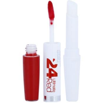 Maybelline SuperStay 24H Ultimate Red tekoča šminka z balzamom 2