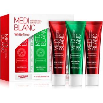 MEDIBLANC Dental Care White Time Set set pentru îngrijirea dentară (pentru dinti albi si stralucitori)