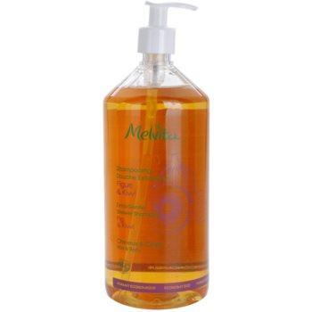Fotografie Melvita Hair extra jemný sprchový šampon na vlasy i tělo Fig & Kiwi 1000 ml