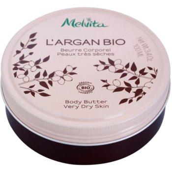 Melvita L'Argan Bio nährende Body-Butter für sehr trockene Haut