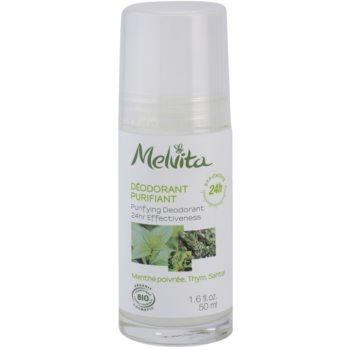 Melvita Les Essentiels deodorant roll-on fara continut de aluminiu 24 de ore  50 ml