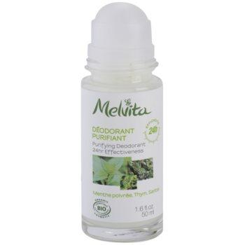 Melvita Les Essentiels deodorant roll-on fara continut de aluminiu 24 de ore 1