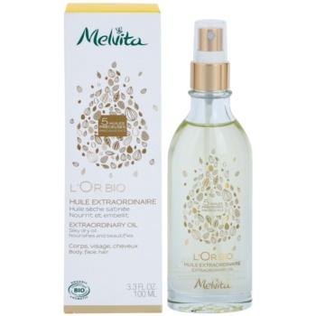 Melvita L'Or Bio sanftes Trockenöl für Gesicht, Körper und Haare 1