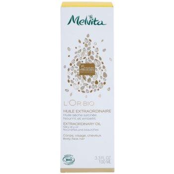 Melvita L'Or Bio sanftes Trockenöl für Gesicht, Körper und Haare 2