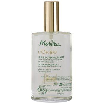 Melvita L'Or Bio подхранващо сухо олио за лице, тяло и коса