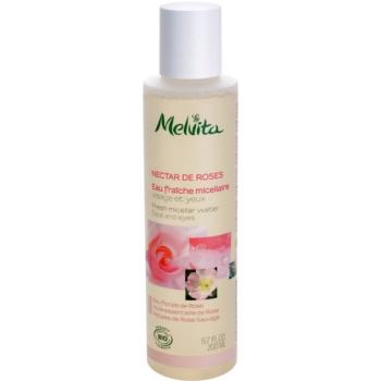 Fotografie Melvita Nectar de Roses osvěžující micelární voda na obličej a oči 200 ml