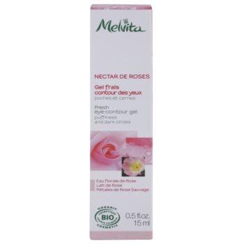 Melvita Nectar de Roses odświeżający żel pod oczy przeciw obrzękom i cieniom 2