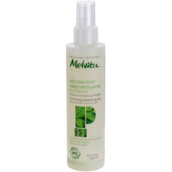 Melvita Nectar Pur gel de curatare delicat pentru ten mixt si gras