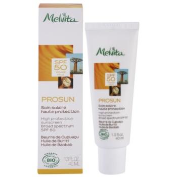 Melvita Prosun creme facial protetor com minerais SPF 50 1