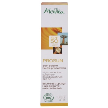 Melvita Prosun creme facial protetor com minerais SPF 50 2
