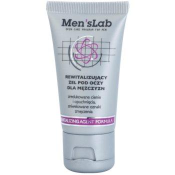 Men's Lab Revitalizing Agent Formula gel de contorno de olhos contra olheiras e inchaços