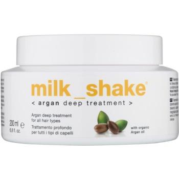 Fotografie Milk Shake Argan Oil olejová péče pro všechny typy vlasů 200 ml