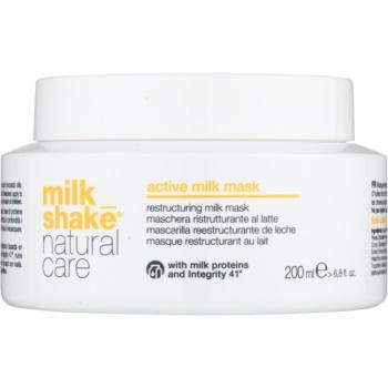 Fotografie Milk Shake Natural Care Active Milk aktivní mléčná maska pro suché a poškozené vlasy 200 ml
