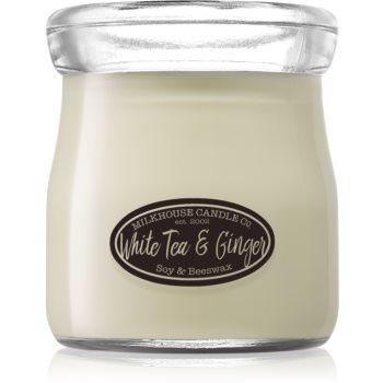 Milkhouse Candle Co. Creamery White Tea & Ginger lumânare parfumată Cream Jar