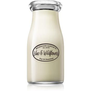 Milkhouse Candle Co. Creamery Lilac & Wildflowers lumânare parfumată Milkbottle