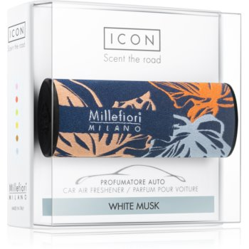 Millefiori Icon White Musk vůně do auta Textile Geometric