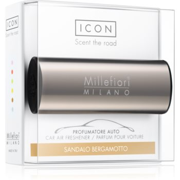 Millefiori Icon Sandalo Bergamotto parfum pentru masina Metallo Shiny Bronze