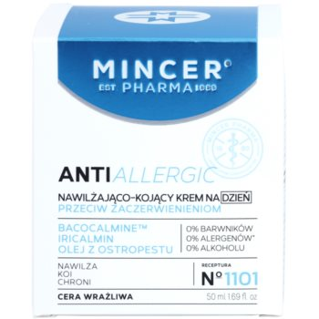 Mincer Pharma AntiAllergic N° 1100 заспокійливий денний крем проти почервонінь зі зволожуючим ефектом 2