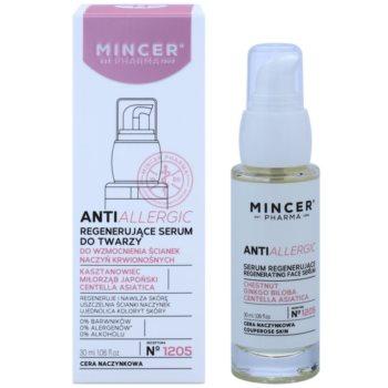 Mincer Pharma AntiAllergic N° 1200 regeneracijski serum za razpokane in razširjene žilice 1