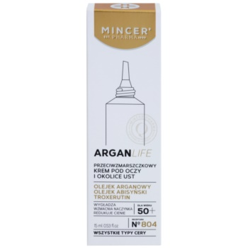 Mincer Pharma ArganLife N° 800 50+ krema proti gubam za predel okoli oči in ustnic 2