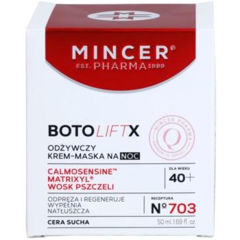 Mincer Pharma BotoLiftX N° 700 40+ подхранващ нощен крем-маска за суха кожа 2