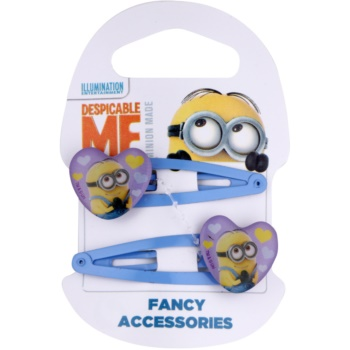 Minions Accessories Dave agrafe de par in forma de inima