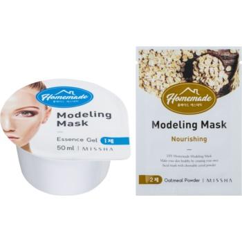 Fotografie Missha Homemade Oatmeal Powder modelační pleťová maska s vyživujicím účinkem 5 g + 50 ml
