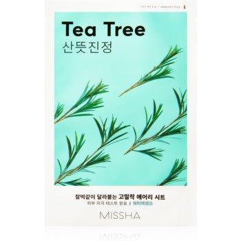Missha Airy Fit Tea Tree masca de celule cu efect de curatare si reimprospatare pentru piele sensibilă imagine